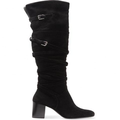 Shops 2018 New Black Velvet High Boots