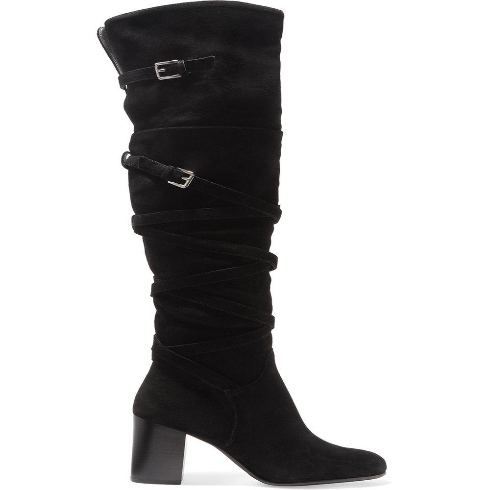 Discount 2018 New Black Velvet High Boots