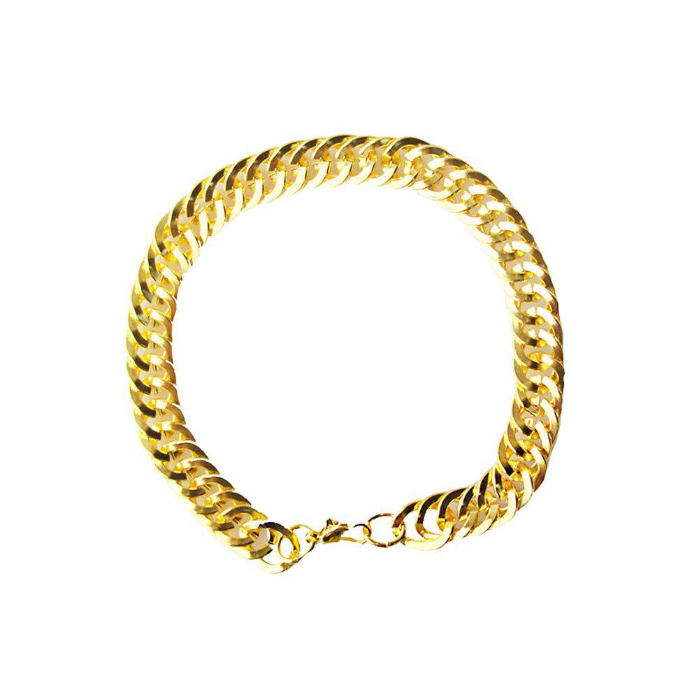 Affordable Double Woven Keel Men and Women Common Golden Alloy Bracelet