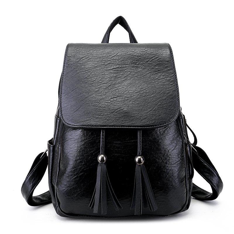 dfc447d062b Backpack Women's Simple Tide Soft Bag Personality Fashion Ladies Students  Wild Backpack Female