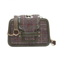 Fashion Plaid Small Wild Girls Messenger Simple Shoulder Bag -