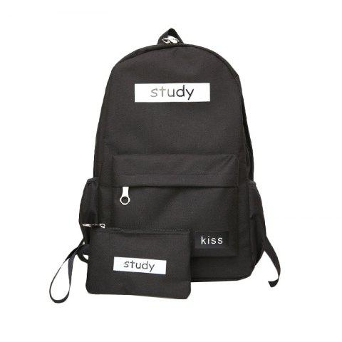 Fashion Lash Package Pure Color Backpack Student