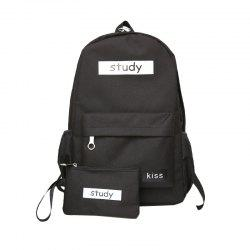 Lash Package Pure Color Backpack Student -