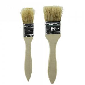 2 Pcs Barbecue Basting Brushes Bristle with Wooden Handle for Kitchen BBQ Grilling Camping -