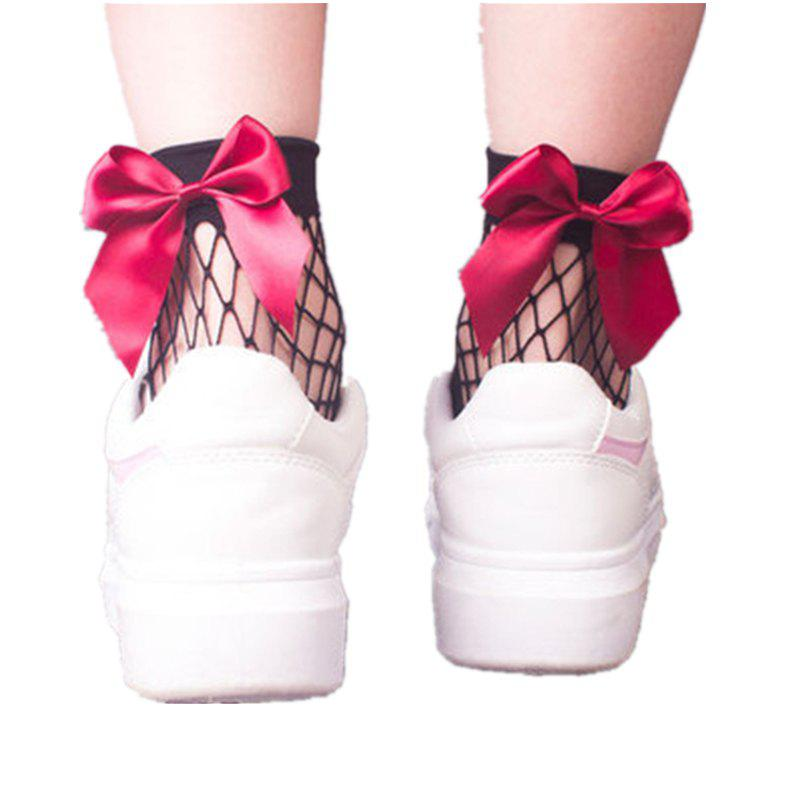 Affordable Butterfly Sweet Lady in Summer Tube Net Socks