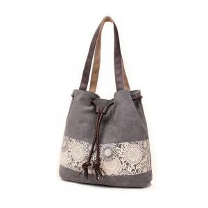 Women Large-capacity Handbag Canvas Shoulder Bag -