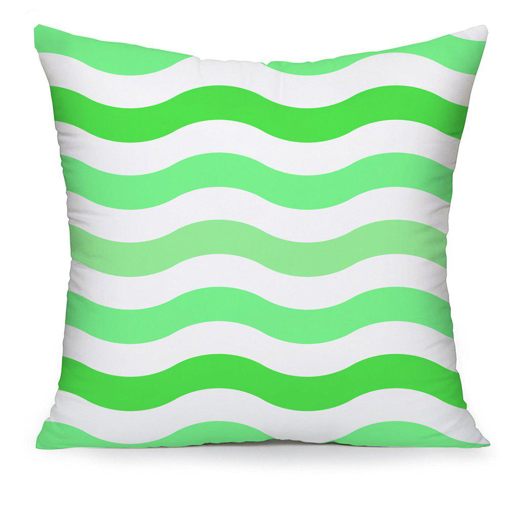 Shops Fresh Green Wavy Household Cotton Pillowcases Hold