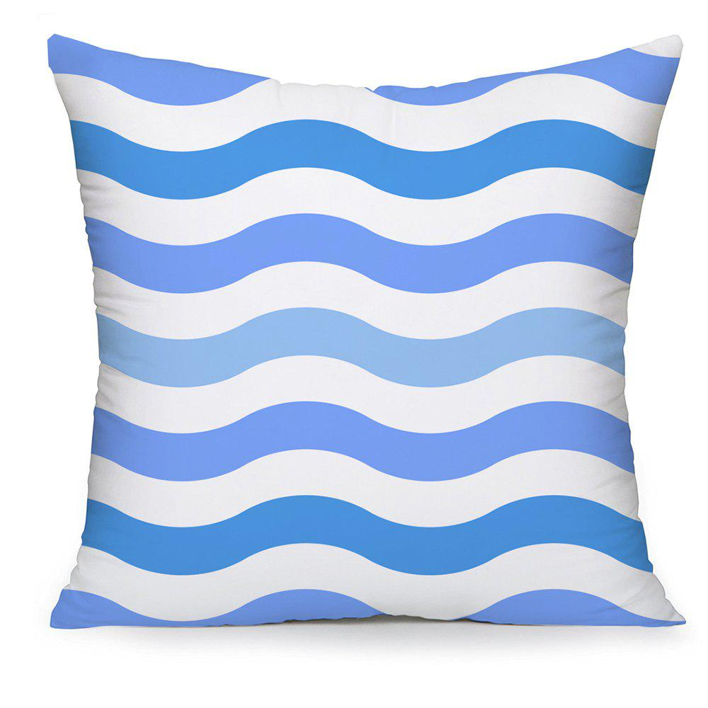 Store Visual Effect of Stereo Ripple on Cotton Pillowcase Balcony Cushion Cover