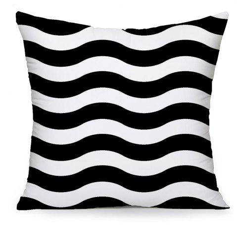 Online Black and White Stripes Ripple Household Pillowcase Cushion Cover Set Simple Fashion