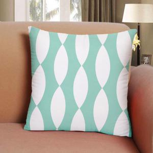 Abstract Domestic Cotton Pillowcase Oval Composite Cushion Cover -
