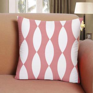 Simple Geometric Lines of White Cotton Pillowcases Hold Household Pattern -