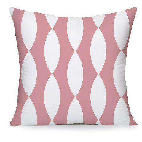 Fancy Simple Geometric Lines of White Cotton Pillowcases Hold Household Pattern