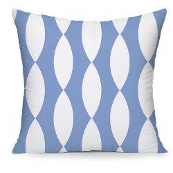 White Geometry Home Decorations Cotton Cushion Cover -