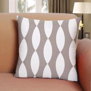 Gray Household Pillowcase Cotton Material Geometry Cushion Cover -