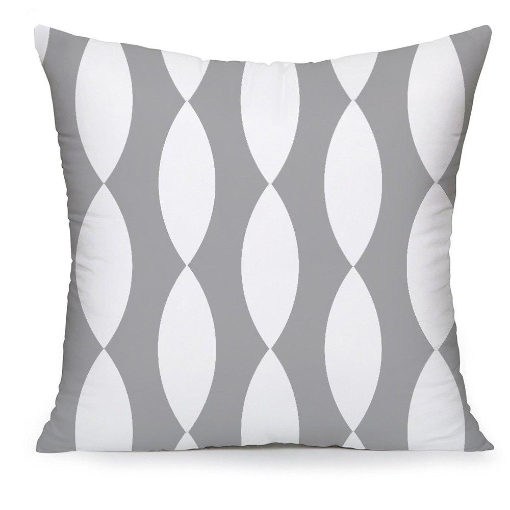 Latest Gray Household Pillowcase Cotton Material Geometry Cushion Cover