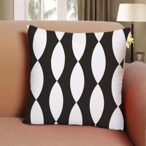 Black and White Solid Geometric Home Decor Bedroom Pillowcase Sofa Cushion Cover -