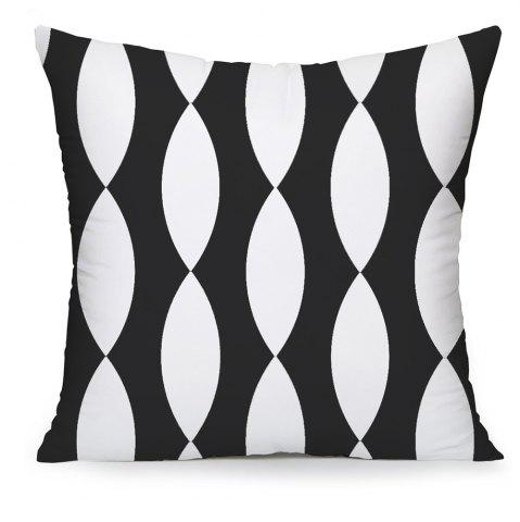 Best Black and White Solid Geometric Home Decor Bedroom Pillowcase Sofa Cushion Cover