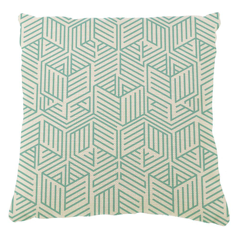 Trendy Retro Creative Geometric Lines Sofa Cushion Cover Pillowcase