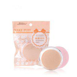Lameila Cosmetic Circular Powder Puff Makeup Tool 2PCS -