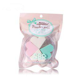 Lameila Cosmetic Sponge Heart Shape Powder Puff Makeup Tool 4PCS -