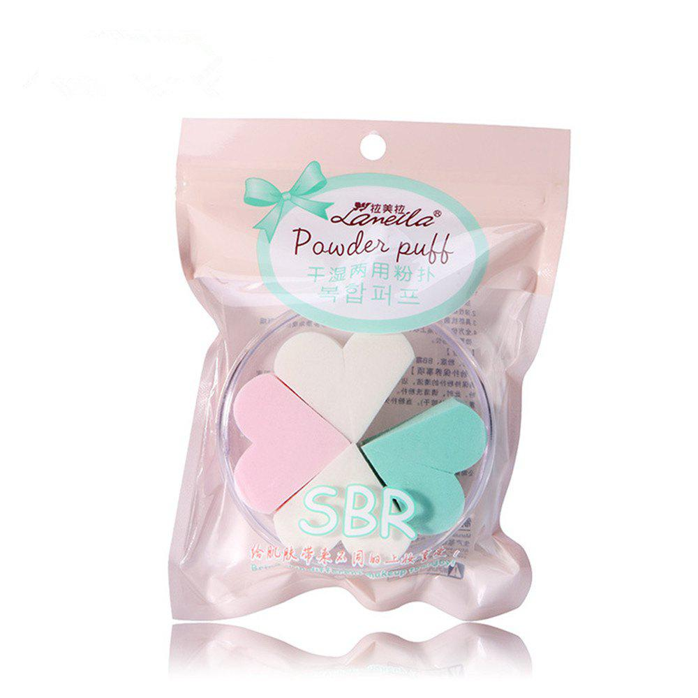 Chic Lameila Cosmetic Sponge Heart Shape Powder Puff Makeup Tool 4PCS