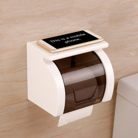 Unique Toilet Transparent Waterproof Seamless Paper Roll Holder