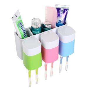 Creative Sucker Toothbrush Holder Mouthwash Set for Three People -