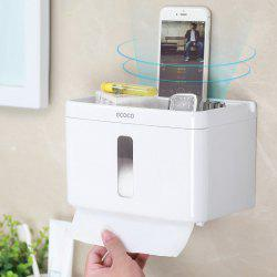 Bathroom Toilet Paper Shelf Free Punch Suction Wall Tissue Box -