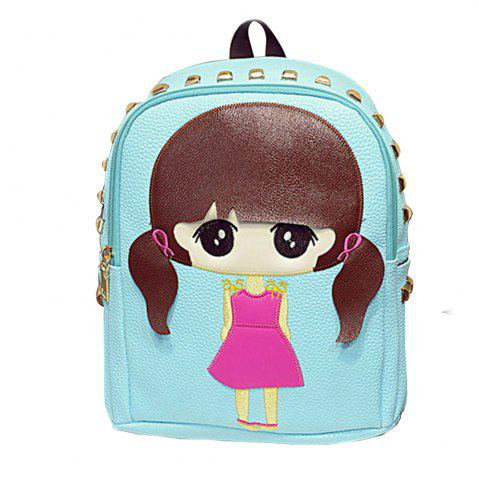 Sac à dos de la fille Cartoon Rivets Kids Bag