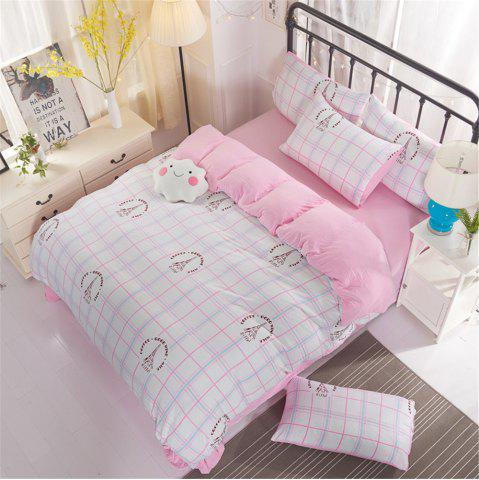 Cheap Washed Cotton Four-piece Bedding Set