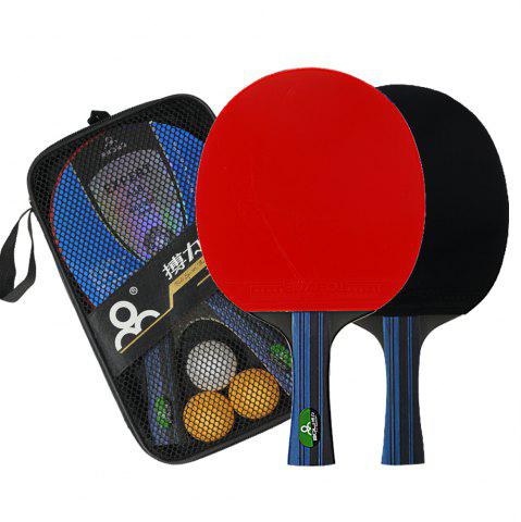 Latest BOLI Advanced 2 PCS Wooden Table Tennis Paddle Trainning Ping Pong Racket With Carry Case
