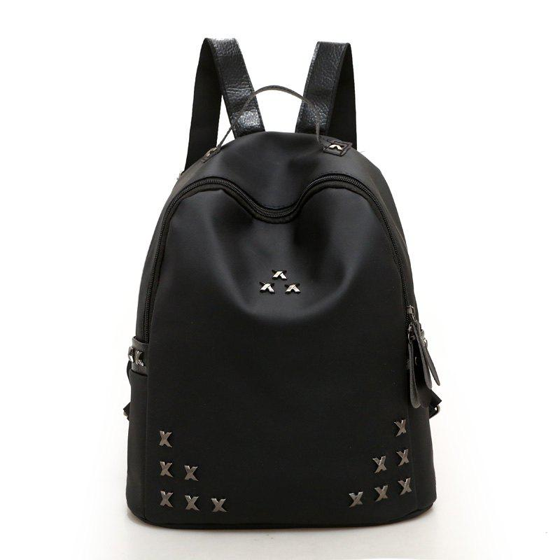 a91c99c34 31% OFF] Double X Rivet Cloth Backpacks | Rosegal