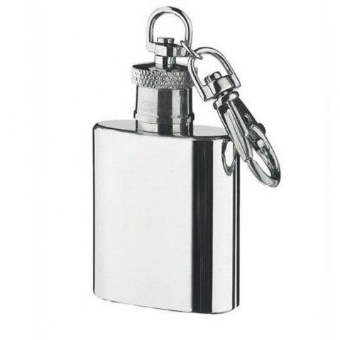 Shops Mini Stainless Steel Flagon Keychain High Quality Silver