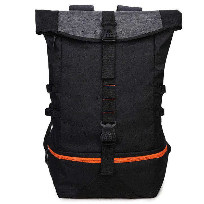 New New Men'S Sports Wind Large Capacity Solid Color Backpack