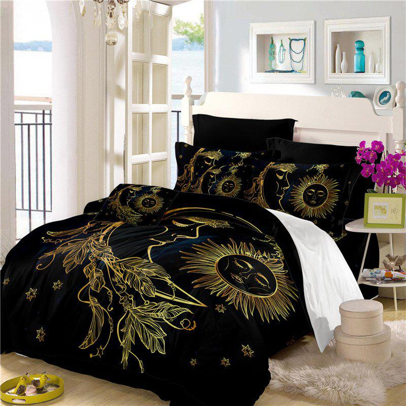 Chic Active Printing and Dyeing Sun Moon Series Bedding Set Three and Four Pieces AS25