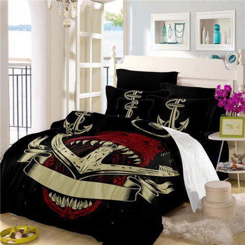Best Sea Island Shark Ship Anchor 3D Series Bedding Set Three and Four Pieces AS26