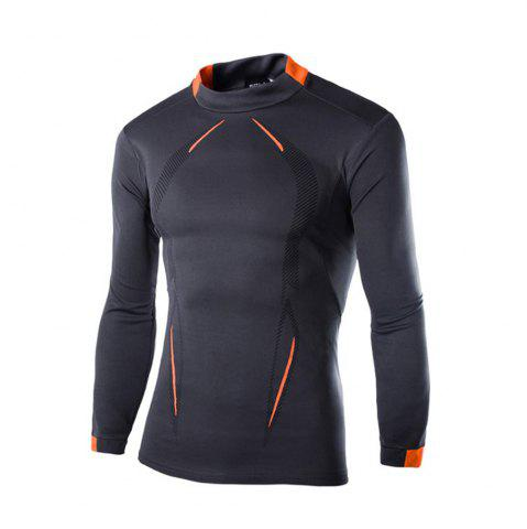 Shop 2018 Autumn and Winter New Men Casual Long-Sleeved Sports T Shirt