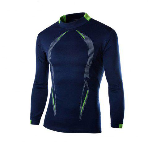 Cheap 2018 Autumn and Winter New Men Casual Long-Sleeved Sports T Shirt