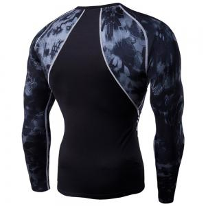 Men's Digital Printing Long-Sleeved Fitness Python Speed Dry T-Shirt -