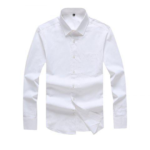 Trendy Autumn Men's Pure Color Fashion and Leisure Bottoming Shirt
