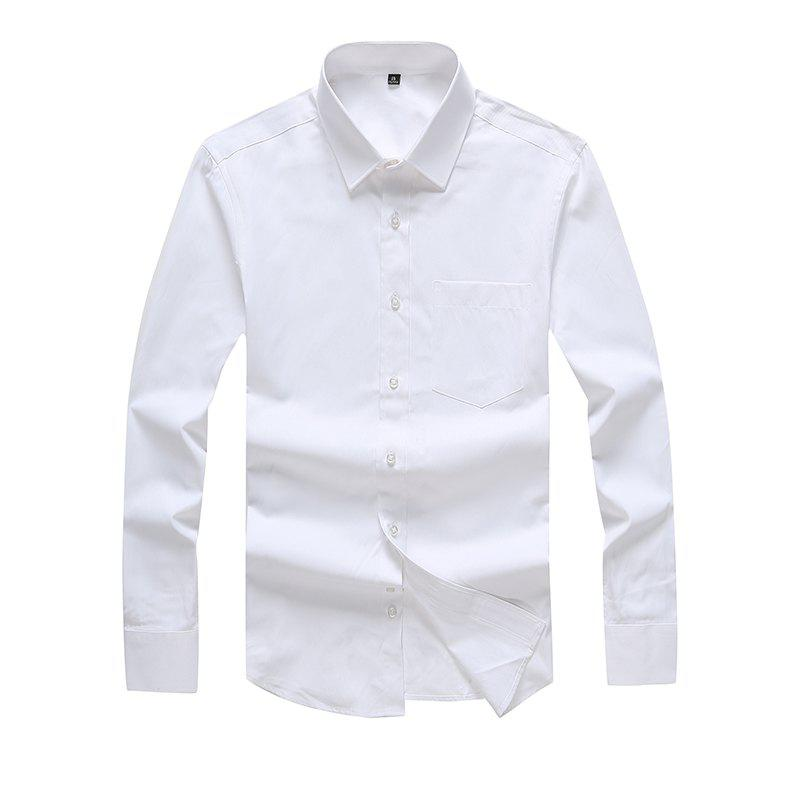 Shop Autumn Men's Pure Color Fashion and Leisure Bottoming Shirt