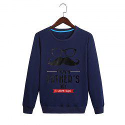 Spring and Autumn Printing Head Neck Sweatshirt -