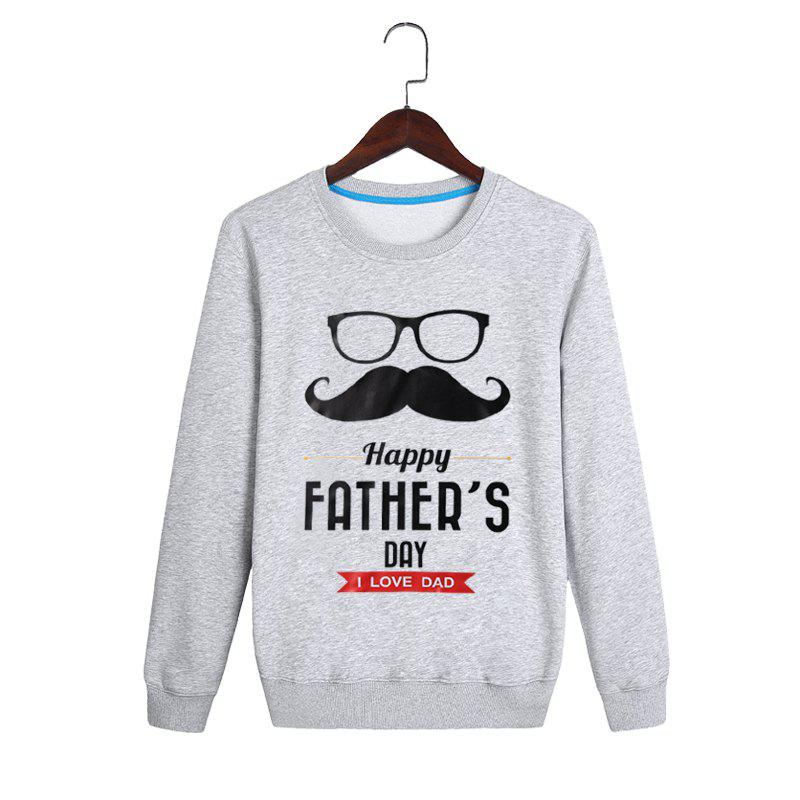 Trendy Spring and Autumn Printing Head Neck Sweatshirt