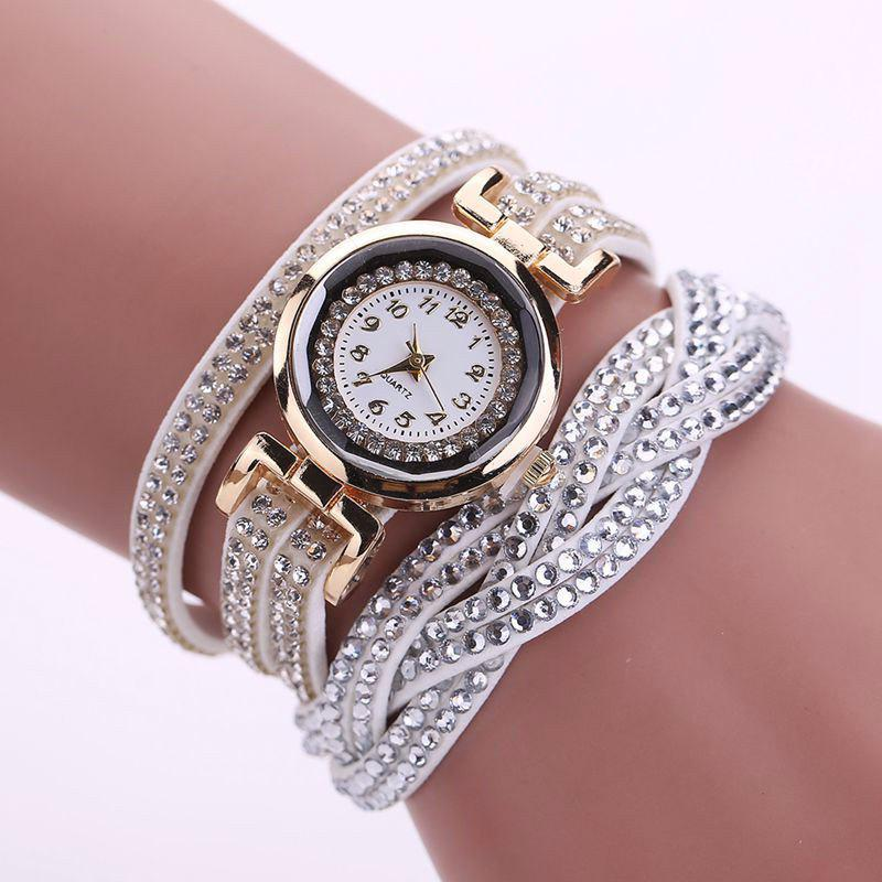 Discount Reebonz Multilayer Woven Pure Diamond Winding Diamond Fashion Quartz Watches