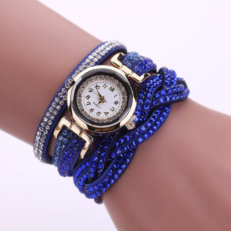 Fancy Reebonz Multilayer Woven Pure Diamond Winding Diamond Fashion Quartz Watches