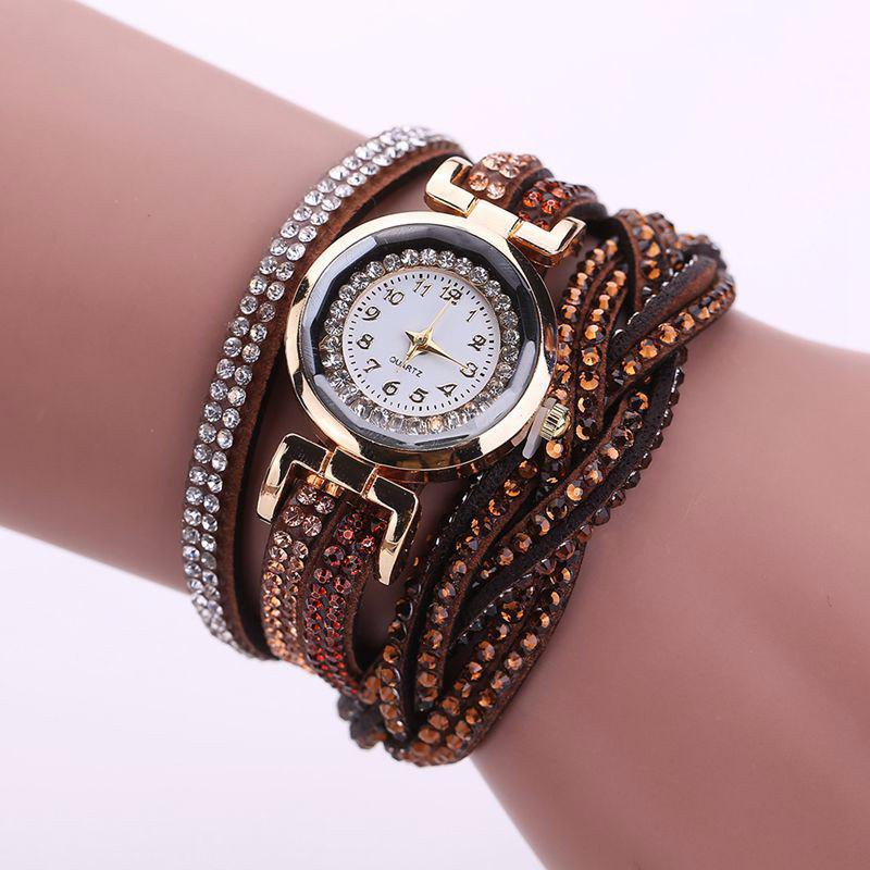 Shops Reebonz Multilayer Woven Pure Diamond Winding Diamond Fashion Quartz Watches