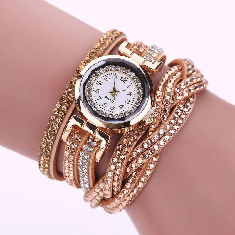 Hot Reebonz Multilayer Woven Pure Diamond Winding Diamond Fashion Quartz Watches