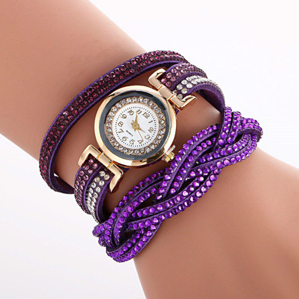 Shop Reebonz Multilayer Woven Pure Diamond Winding Diamond Fashion Quartz Watches