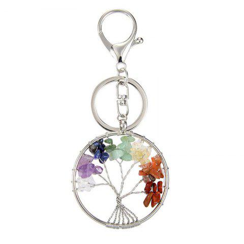 Shop Fashion Jewelry Classic Style Characteristic Craft Wire Inlay Rhinestone Plant Tree Charm Key Chain for Women