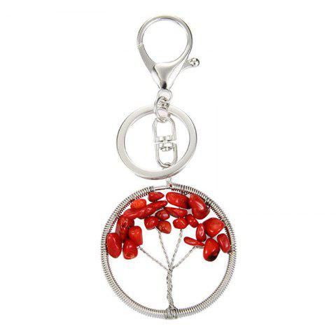 Best Fashion Jewelry Classic Style Characteristic Craft Wire Inlay Rhinestone Plant Tree Charm Key Chain for Women
